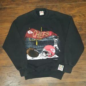 Vintage 90s KC Chiefs NFL Crewneck Sweater Nutmegg